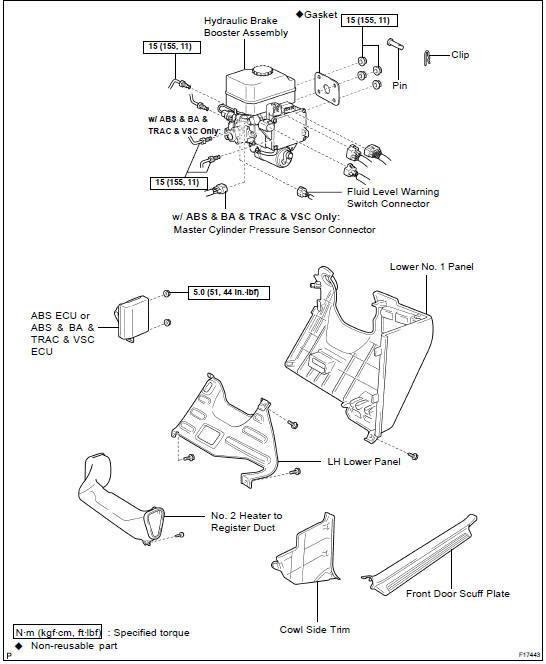 Toyota Land Cruiser: Hydraulic brake booster - Brake